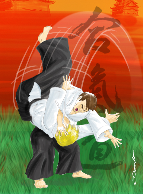 Aikido - Irimi Nague, by Danilo Aroeira