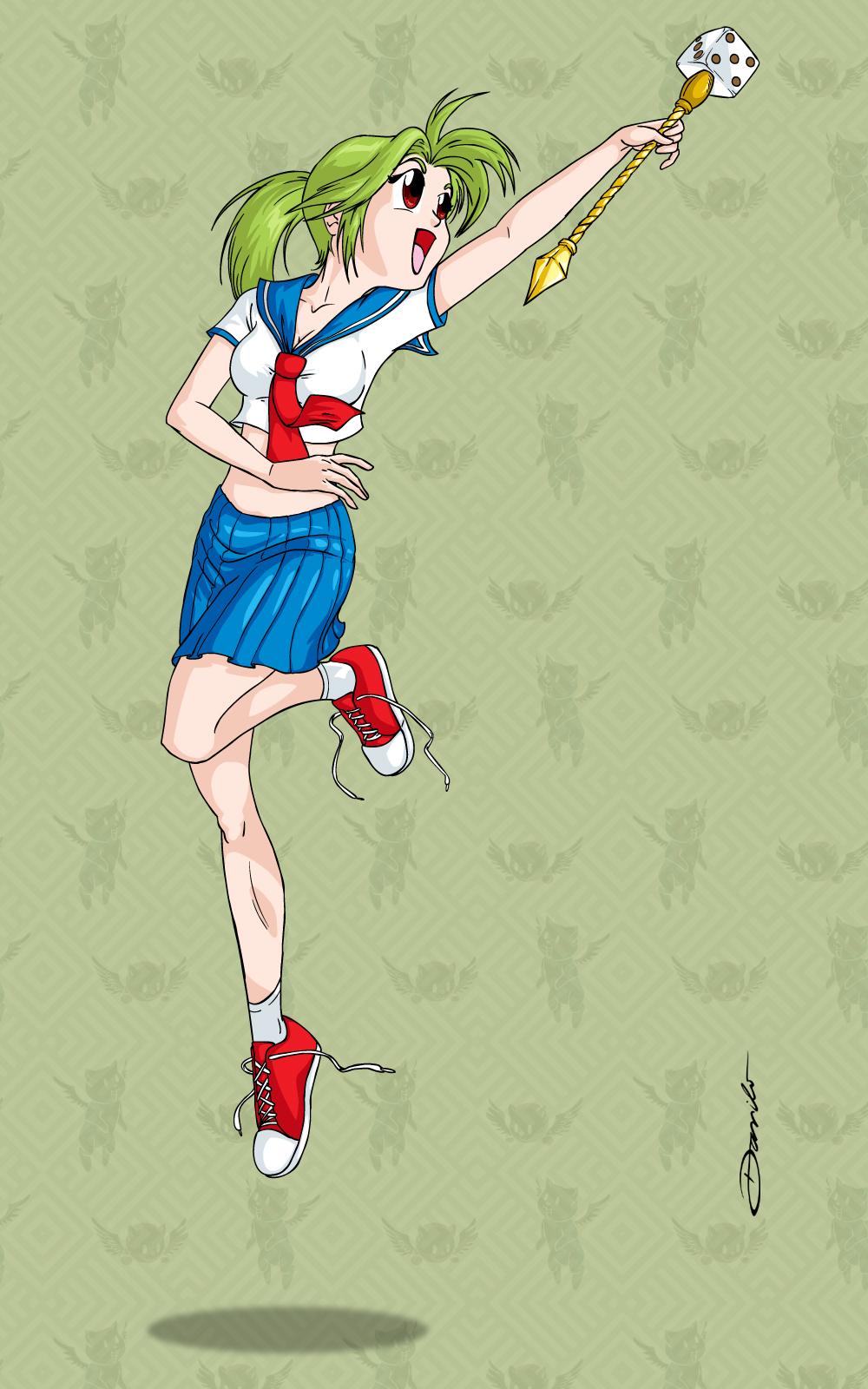 Garota em estilo anime - by Danilo Aroeira