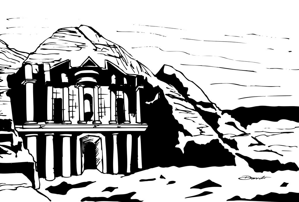 Ruínas de Petra, by Danilo Aroeira