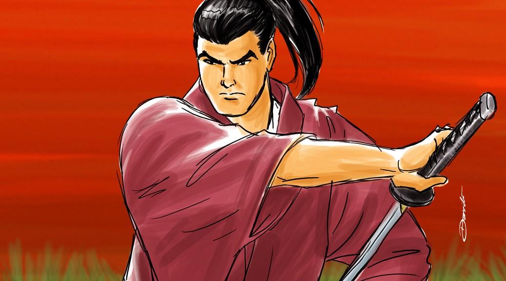 Samurai desembainha espada - by Danilo Aroeira