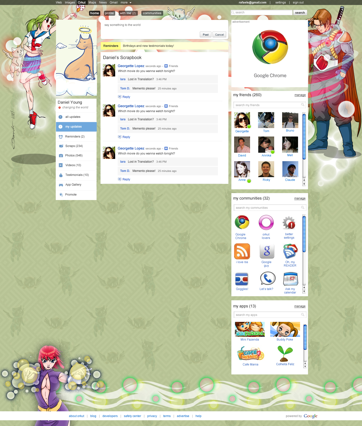 Tema do orkut - Anime - by Danilo Aroeira