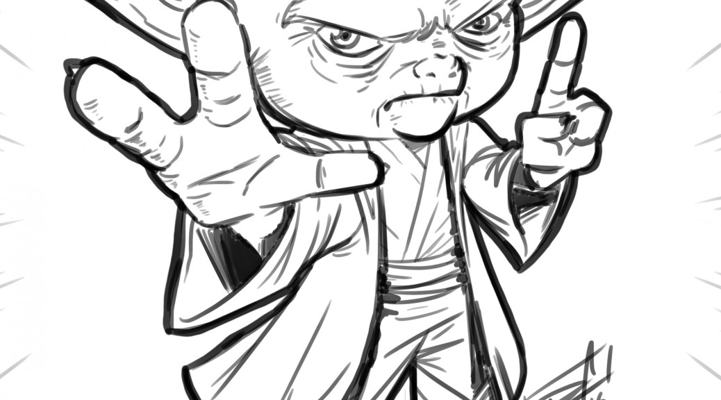 Master Yoda - sketch by Dan Arrows