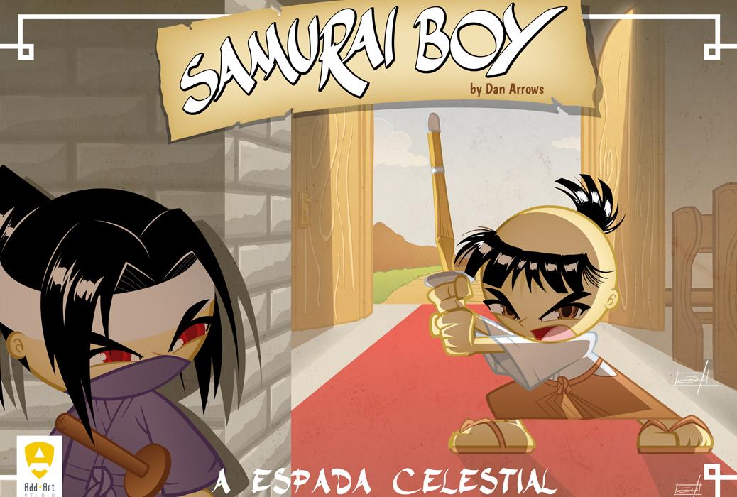 Capa Samurai boy: A Espada Celestial