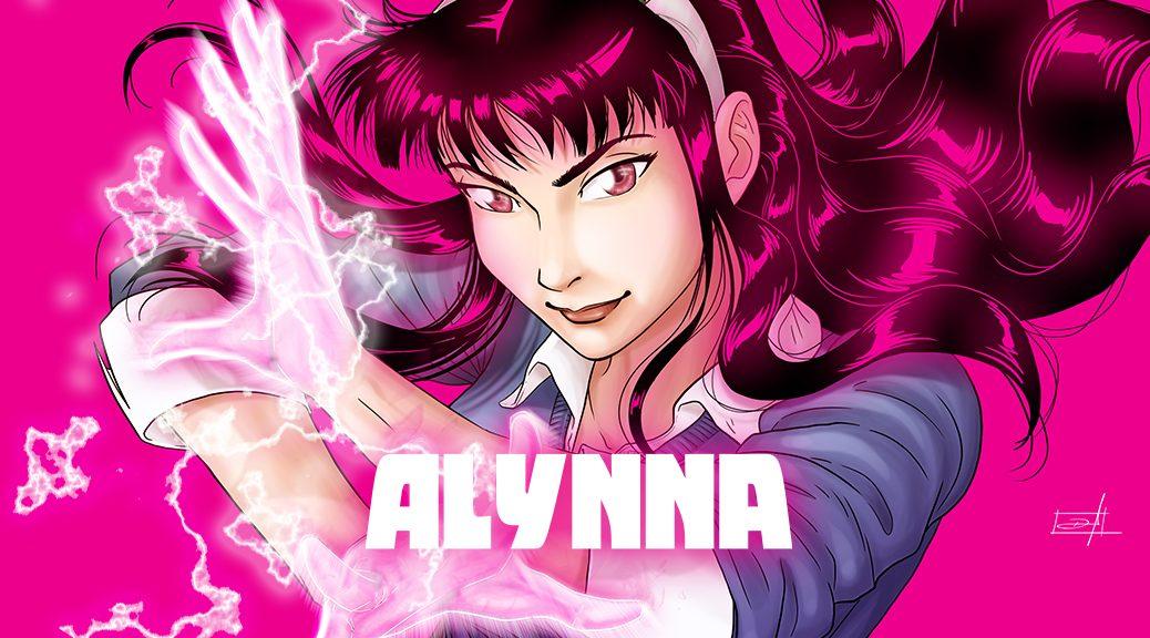 Alynna mostrando seus poderes